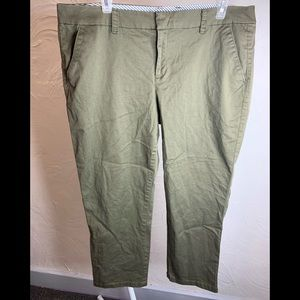 JCP Women's Olive Green Dress Pants Khakis Size 14